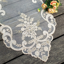 South American Style Mesh Lace Embroidered Table Flag Tablecloth Cover Towel Furniture Dust Decoration Christmas Wedding Party