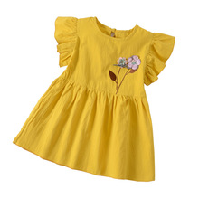 School Sundress for Girls 2019 Summer Fashion Korean Toddler Baby Girl Flower Dress Children's Clothing Girl цены онлайн