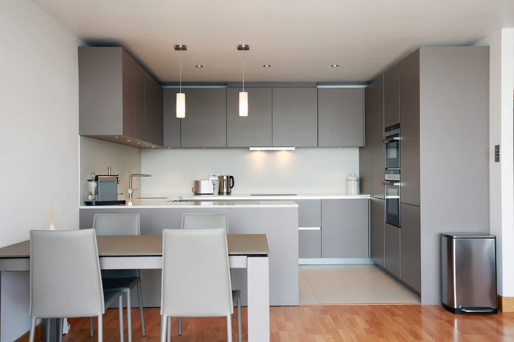 2017 Modern High Gloss White Lacquer Kitchen Furnitures Customized Module Kitchen Cabinet L1606027