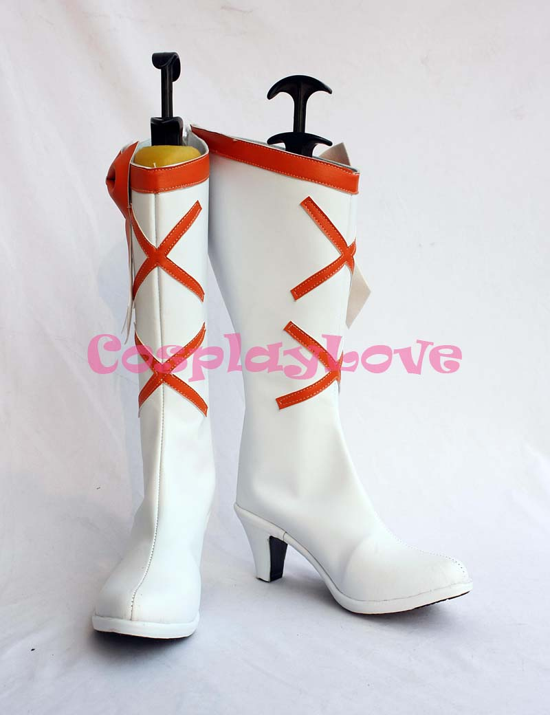 Newest Custom Made Japanese Anime Smile Precure! Pretty Cure Cure Sunshine Cosplay Shoes Long Boots For Christmas Halloween