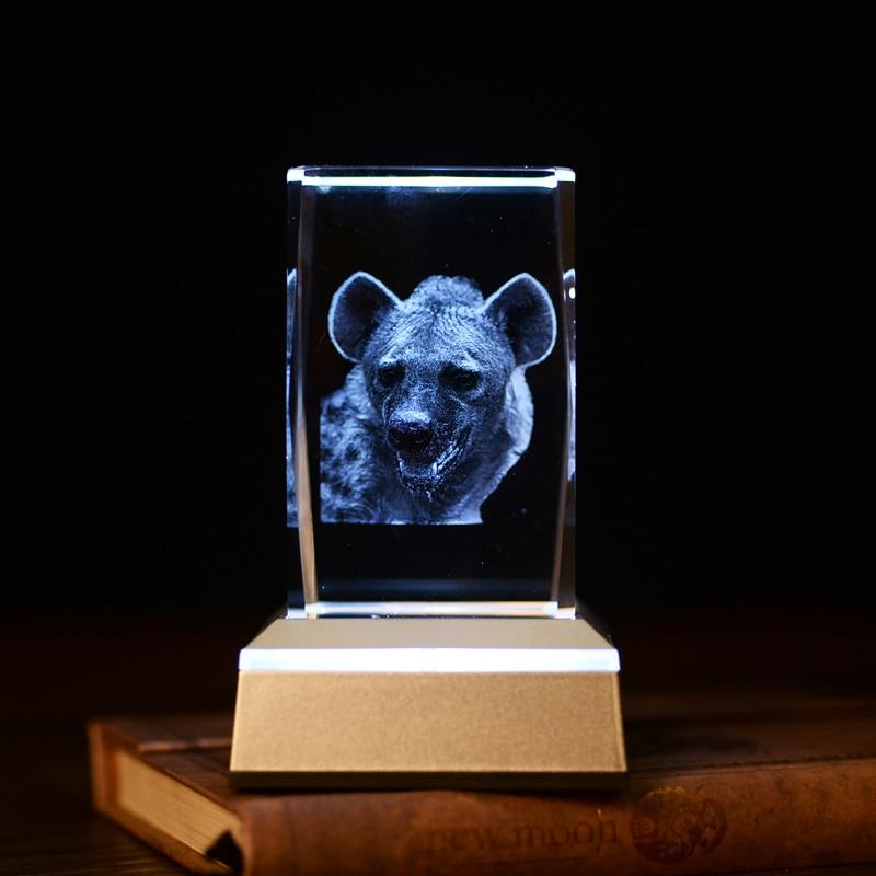 Yenilik Hediyeler Hayvan Leopar 3D Kristal Gece Lambası oturma - Gece Lambası - Fotoğraf 4