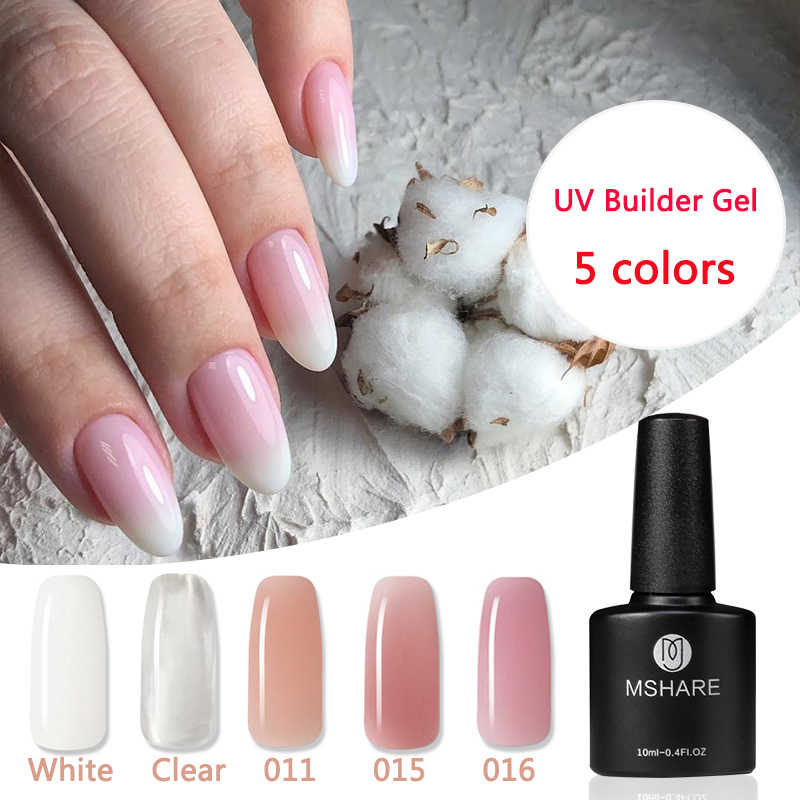 Mshare Builder Gel Lak Camouflage Quick Extension Lijm Uv Clear Nail Acryl Nagels Semi Permanente Polish In Een Fles 10ml