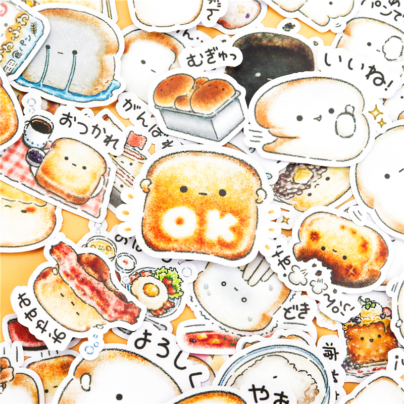 40pcs Creative Cute  Self-made Bread Story  Scrapbooking For Phone Luggage Cartoon Fairy Paper Stickers / Waterproof Stickers