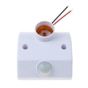 Image 5 - Kebidu אוטומטי גוף אדם אינפרא אדום IR חיישן LED הנורה אור E27 בסיס PIR תנועת גלאי קיר מנורת בעל שקע AC 110V 220V