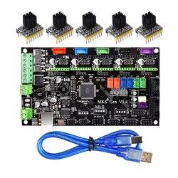 أجزاء طابعة ثلاثية الأبعاد MKS Gen V1.4 لوحة تحكم Mega 2560 R3 اللوحة RepRap Ramps1.4 + TMC2100/TMC2130/TMC2208/DRV8825 سائق