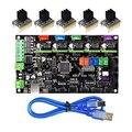 3D piezas de la impresora MKS Gen V1.4 Control Mega 2560 R3 placa base RepRap Ramps1.4 + TMC2100/TMC2130/TMC2208 /DRV8825 conductor
