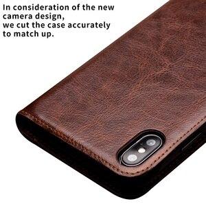 Image 3 - QIALINO Luxus Ultradünne Fall für iPhone X/Xs Echtem Leder Mode Flip Tasche Abdeckung für iPhone Xs Max Karte slot für 6,5 zoll