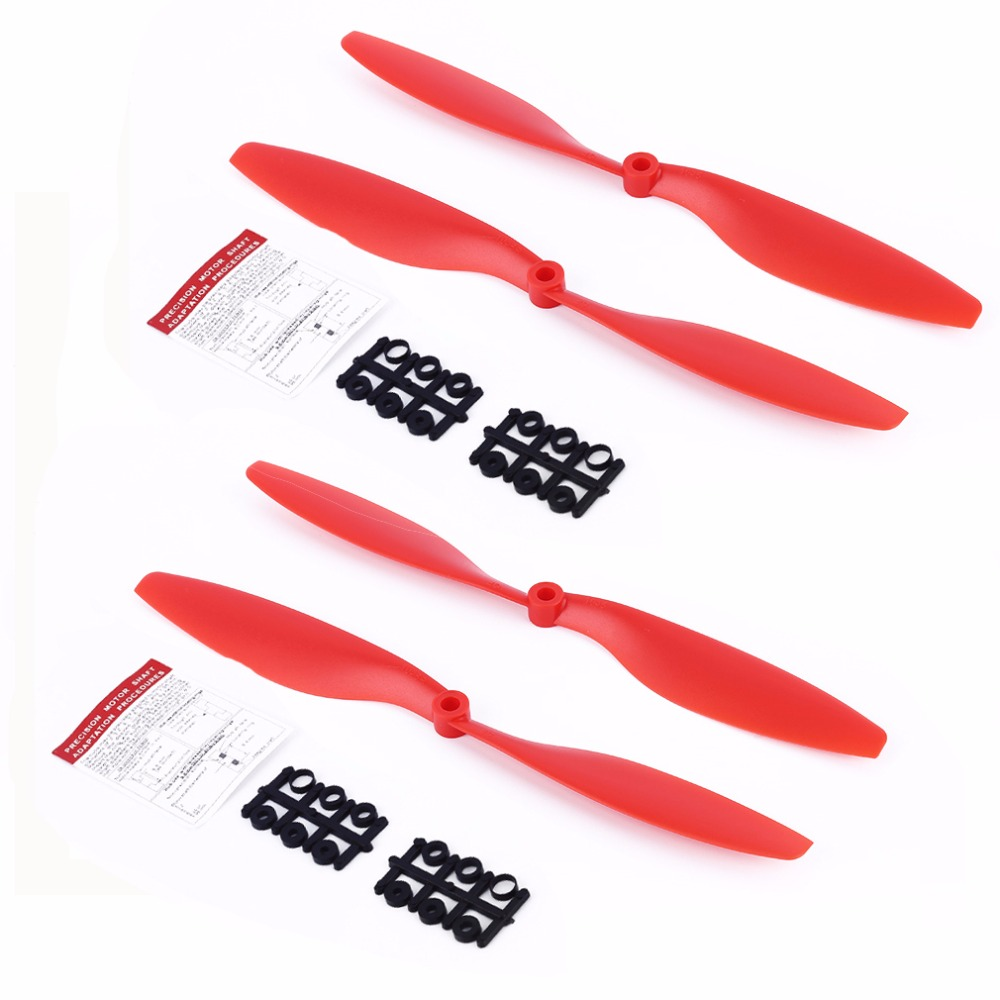 2 Pairs 10 Blade 10X45 1045 Propeller For F450 F550 RC Drone Spare Parts Replacement kit for A2212 KV1000 Motor Wing Fans Kits image