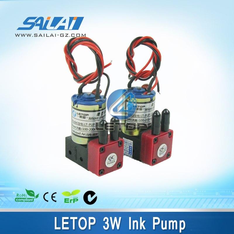 Free shipping 8pcs lot Micro Diaphragm letop 3W printer ink pump for infiniti phaeton crystaljet solvent