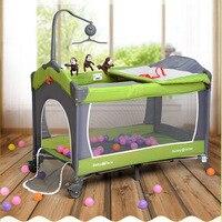 Производитель оптовая Европейский детская кровать малые Многофункциональный портативный складной игры кровать детская кроватки