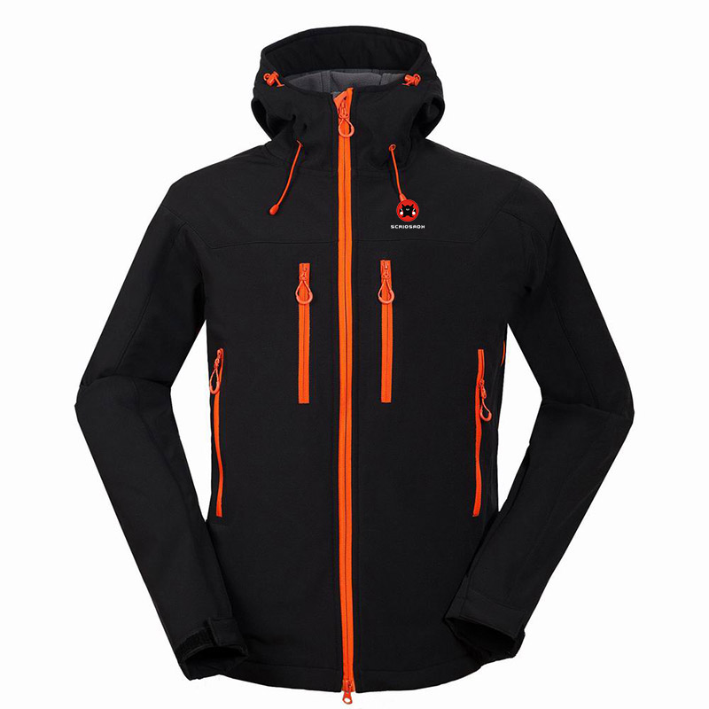 2019 Winter Outdoor Camping Hiking Men's Soft shell Jacket Waterproof Windproof Keep Warm Skiing Coat Men Soft shell Jackets
