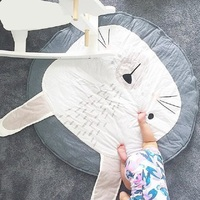 95CM Kids Play Game Mats Round Carpet Rugs Mat Cotton Rabbit Crawling Blanket Floor Carpet For Kids Room Decoration Baby Gifts