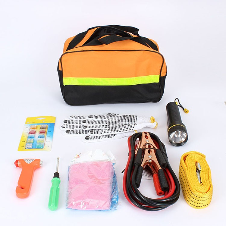 Car Emergency Kits 9 PCS Auto Roadside Emergency Tool Supplies Kit Bag Flashlight Car Breakdown Safety Equipment Survival Gear (8)