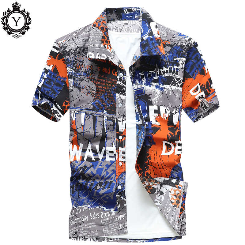 Remera Hawaiana para hombre verano playa colorida Tropical manga corta camisa hombre marca ropa Casual suelta camisa masculina de talla grande