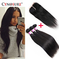 Malaysian Virgin Hair 3Bundles With Closure Malaysian Straight Hair With Closure 8A Cheap Queen Human Hair Weave With Closure