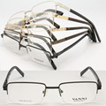 wholesale lot 2316 high classic alloy half-rim with flexible spring hinge business rectangle optical glasses frame free shipping