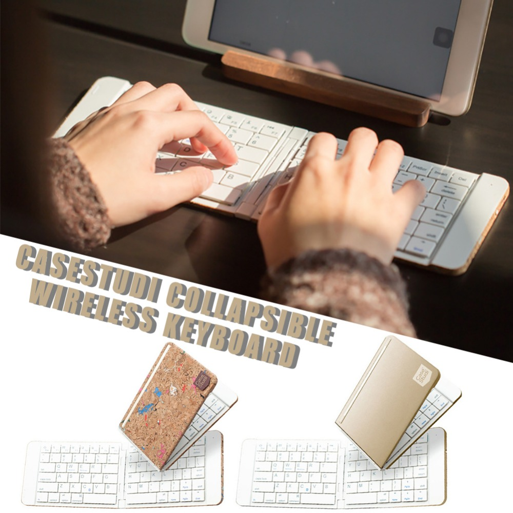 $36.91 Bluetooth Keyboard Foldable Wireless Keyboard With Portable Pocket Size Carrying Pouch For iPhone iPad Tablet Laptop Drop Ship