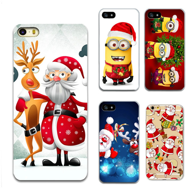 Merry Новогодние товары Санта Клаус чехол для Apple IPhone 5 5S Чехлы сотовый телефон ТПУ Мягкая задняя крышка для iPhone 6 6 S 7 7 Plus 4 4S