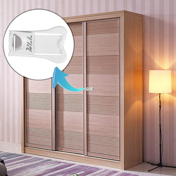 Baby Safety Sliding Door Lock With Tape For Closet And Window Child