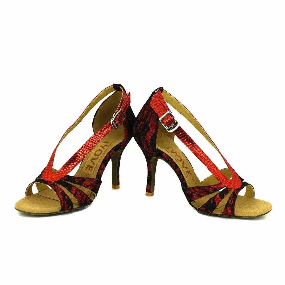ФОТО YOVE Customizable Dance Shoe Lace Women's Latin/ Salsa Dance Shoes 3.5
