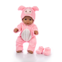 Born New Baby Fit 18inch 43cm Boy Girl Mouse cow powder pig blue pig fox animal doll clothes accessories For Baby Birthday Gift baby pig pig walks