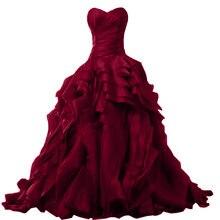 Платье для девушек 15 лет бальное платье красного вина с оборками