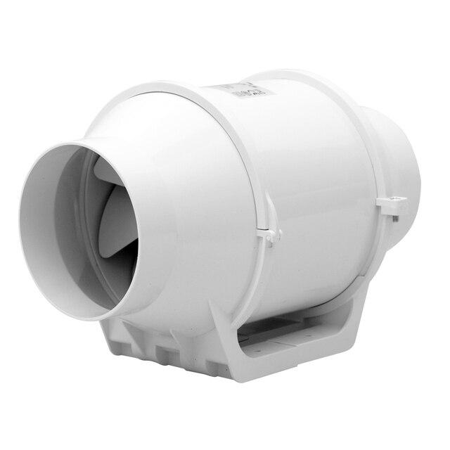 4 Mixed Flow Inline Duct Fan Ventilator Plastic Waterproof Ceiling Ventilation Pipe Exhaust 220v