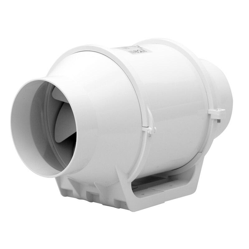 4 pouce ventilateur de conduit en ligne ventilateur en plastique étanche plafond ventilation tuyau d'échappement ventilateur 220 v booster turbo ventilateur 100mm