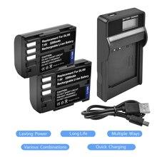 2X7,4 В 2200 мАч D-LI90 DLI90 D LI90 Батарея + chager с светодио дный для Pentax K-7 k-7d K-5 K-5 II 645D K01 z1 K-3 K-3 II L15