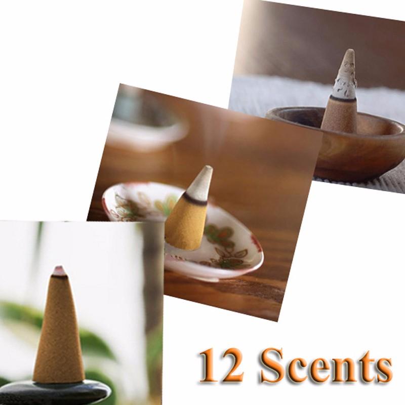 25 шт. смешать укладка красочные аромат трехместный запах ладана шишки попурри анти-запах будды обратного конуса благовония случайный цвет
