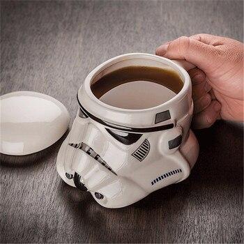 1 pçs criativo 3d darth vader copo de cerâmica dos desenhos animados caneca star wars porcelana beber caneca para café água novidade bebida ware presente