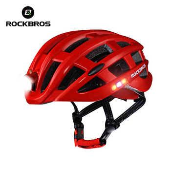 ROCKBROS Cycling Helmet Bike Ultralight Helmet With Light Integrally-molded Mountain Road Bicycle Helmet Safe Men Women 57-62cm - DISCOUNT ITEM  39 OFF Sports & Entertainment