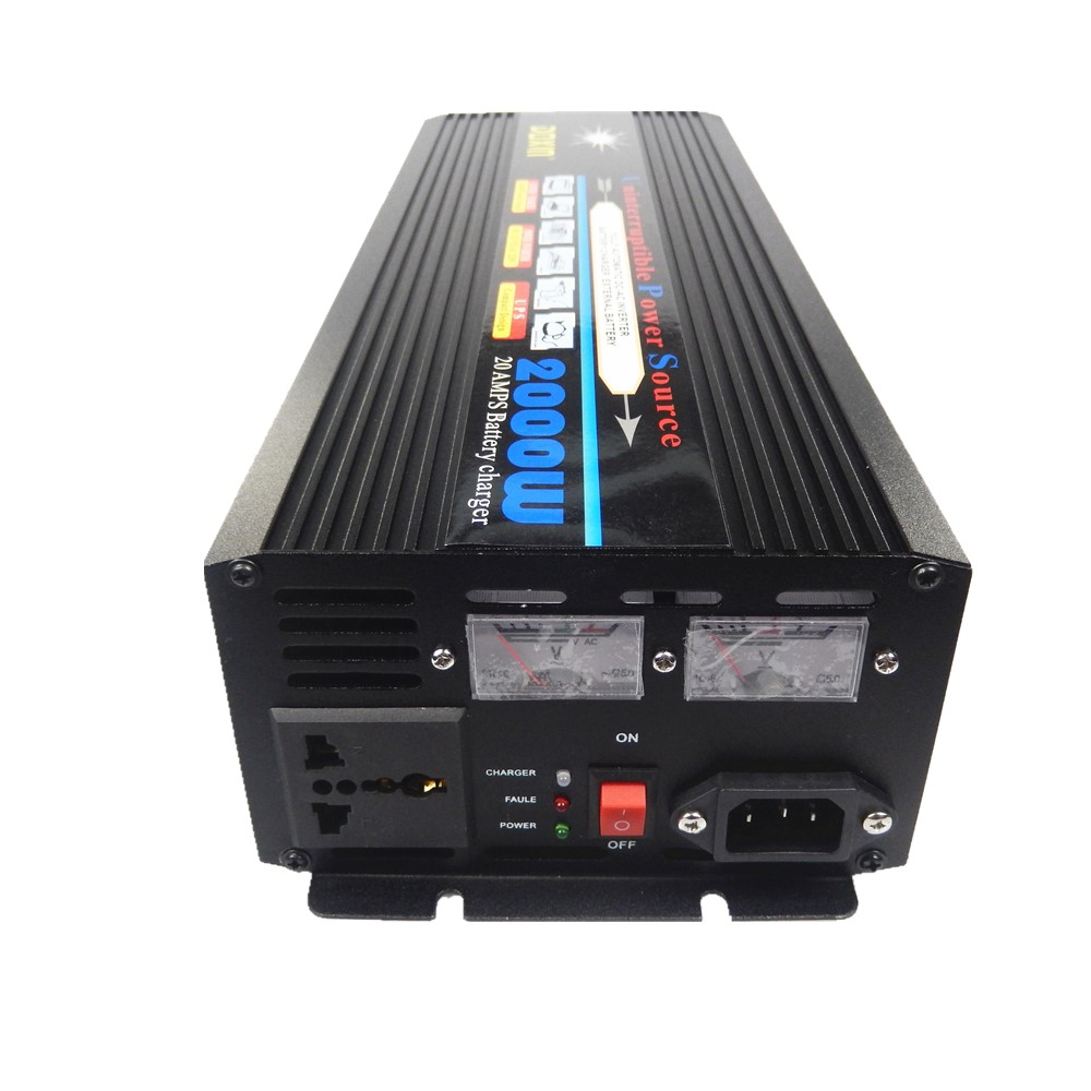High quality modified wave Power Inverter 2000W DC24V TO AC220V UPS Universal Uninterrupted Power Supply 2kw 2000w dc24v input to ac220v output modified wave power inverter for home use