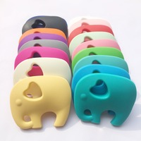 BPA Free Very Large Elephant Silicone Teething Chew Pendant Or Teether Necklace Pendant 5pieces Lot