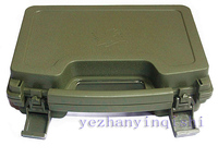 ABS Plastic Box Pistol Case Tactical Hard Pistol Case Gun Case Padded Terms Lining Green Free