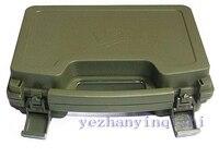 Tworzywo abs box Pistol Tactical Pistol Case Hard Case Przypadku pistoletu Wyściełane warunki Podszewka (zielony)-Darmowa wysyłka