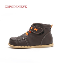 COPODENIEVE Winter Autumn Girls Boots Floral Children's Shoes Warm Short Plush Comfy Kids Leather Martin Boots for Toddler Girls printio марио и йоши