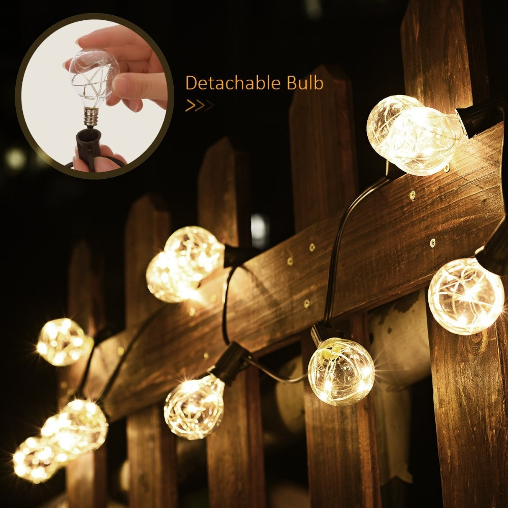 Aliexpress.com : Buy G40 String Lights,25 LED Copper Wire Bulbs Lights  Outdoor Decorative Lights For Bedroom,Party,Wedding, Backyard,Multi  Color/WW From ...