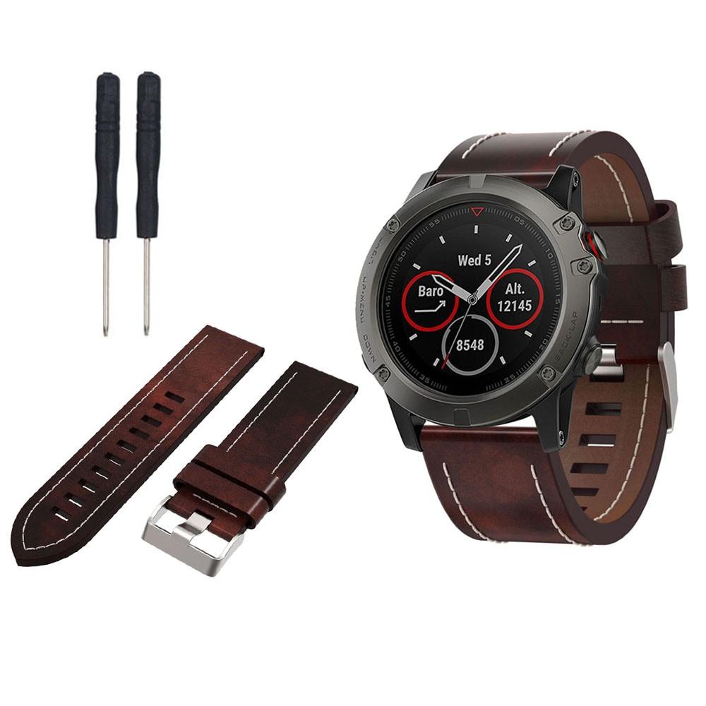Susenstone 2017 watchband Luxury watch strap leather brand With Tools For Garmin Fenix 5 correa reloj saat kordonu high quality  new garmin watch 2019