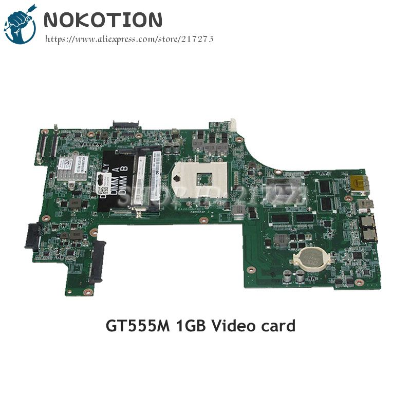 NOKOTION For Dell Inspiron 17R N7110 Laptop Motherboard DAV03AMB8E0 CN-037F3F 037F3F 37F3F HM67 DDR3 GT555M 1GB nokotion cn 0j2ww8 laptop motherboard for dell inspiron n5110 nvidia gt525m 1gb graphics hm67 ddr3 core i7 mainboard