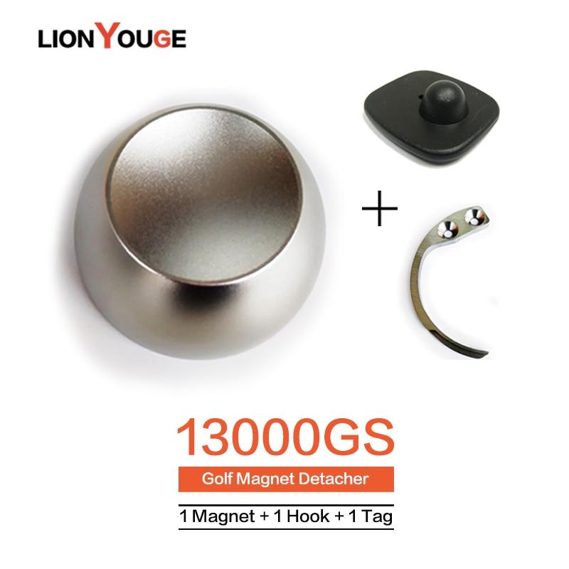 13000GS EAS System Tag Remover Original Magnet Golf Detacher Security Lock For Supermarket Clothes Store 1Magnet+1Hook+1alarmTag