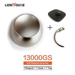 13000GS نظام EAS علامة مزيل الأصلي المغناطيس Detacher غولف قفل الأمان لسوبر ماركت الملابس مخزن 1 المغناطيس + 1 هوك + 1 alarmTag