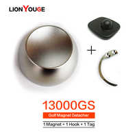 13000GS EAS System Tag Remover Original Magnet Golf Detacher Security Lock For Supermarket Clothes store 1Magnet+1Hook+1alarmTag