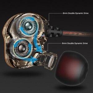 Image 3 - באיכות גבוהה כפול דינמי נהג אוזניות 3.5mm באוזן אוזניות 4 רמקולים HiFi בס סטריאו ספורט אוזניות עם מיקרופון