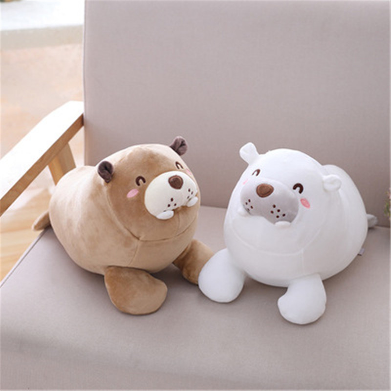 Cute Animal Sea Lion Plush Toy Baby Sleeping Doll Stuffed Toy Kids Soft Toys Brithday Gift for Girl &Boys