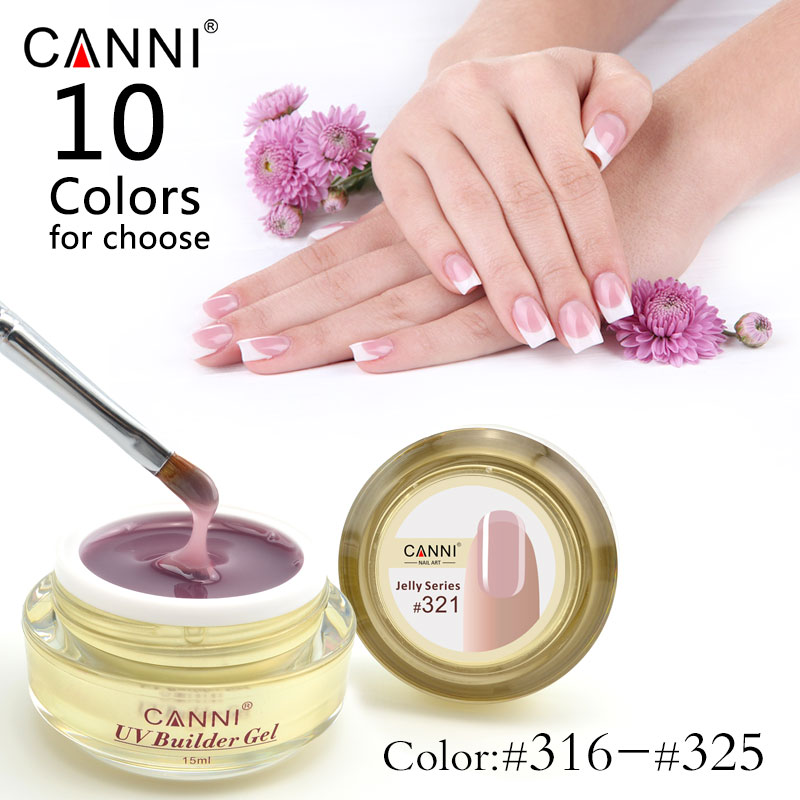 #50951 CANNI professional 25 colors nail art semi and solid transparent camouflage jelly dense uv hard builder extend stand gels