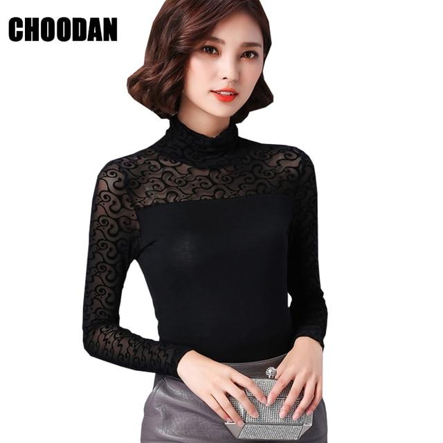 1bd0cc8d384a2 Jacquard de Punto Hoja Rosa Blusa de Las Mujeres Camisas de Cuello Alto