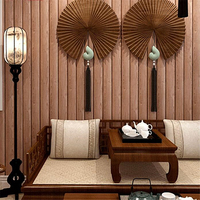 beibehang solid wood texture wallpapers striped Chinese imitation wood grain wall paper wood color vintage wood plank wallpaper
