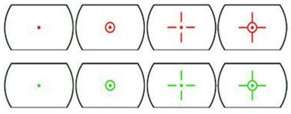 Հոլոգրաֆիկ 4 Reticle Red / Green Dactical Reflex Refight - Որս - Լուսանկար 2