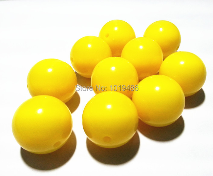 Gumball Bead Chunky Necklace Set of 10-20mm Yellow Pearl Bubblegum Bead 20mm Bead 20mm Chunky Bead 20mm Pearl Bead Chunky Bead